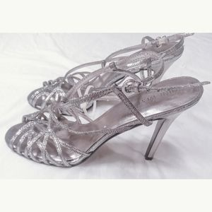 Nine West Strappy Silver Sandals